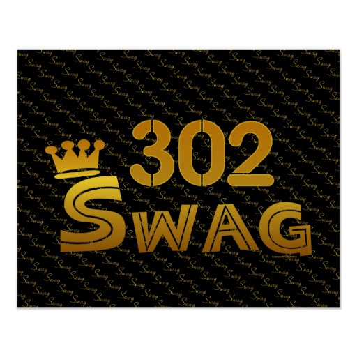 302 Area Code Swag Posters