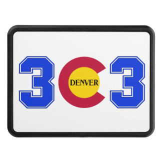 303 Area Code Hitch Cover