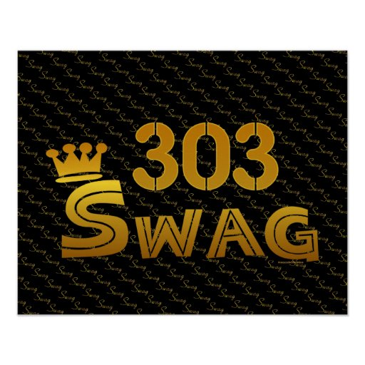 303 Area Code Swag Poster