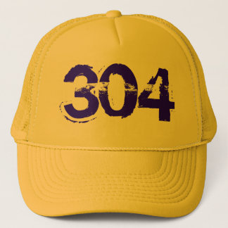 304 WV West Virginia Trucker Cap Hat