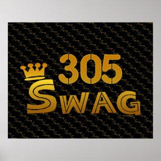 305 Area Code Swag Print