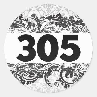 305 CLASSIC ROUND STICKER