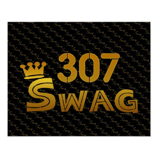 307 Area Code Swag Poster