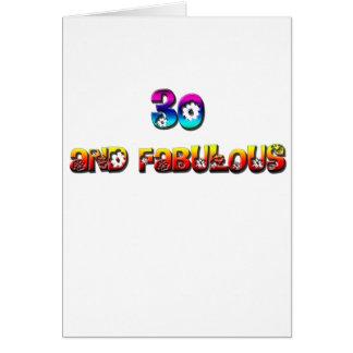 30 and fab rainbow card