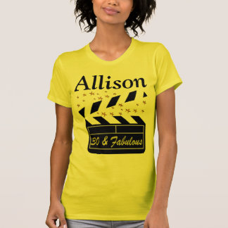 30 AND FABULOUS PERSONALIZED SUPER STAR T SHIRT