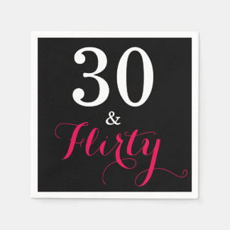 30 and Flirty Birthday Paper Party Napkins Disposable Napkin