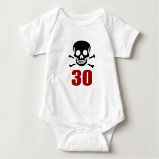 30 Birthday Designs Baby Bodysuit