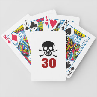 30 Birthday Designs Bicycle Playing Cards