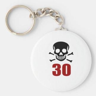 30 Birthday Designs Keychain