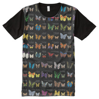 30 Butterfly Species from Around the World All-Over-Print T-Shirt