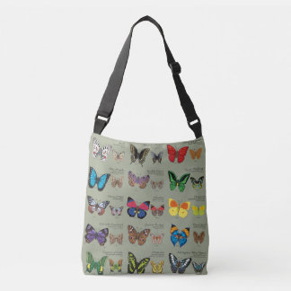 30 Butterfly Species from Around the World Crossbody Bag