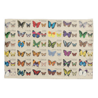 30 Butterfly Species from Around the World (Light) Pillowcase