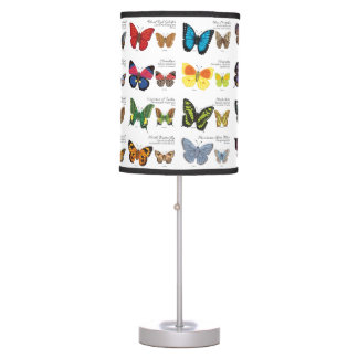 30 Butterfly Species from Around the World Table Lamp