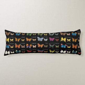 30 Butterfly Species Reversible Body Pillow