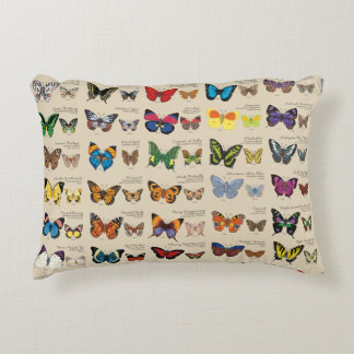 30 Butterfly Species Reversible Decorative Pillow
