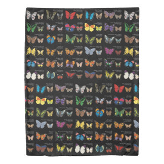 30 Butterfly Species Reversible Duvet Cover