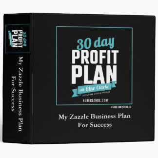 30 Day Profit Plan Advanced Zazzle Course 3 Ring Binders