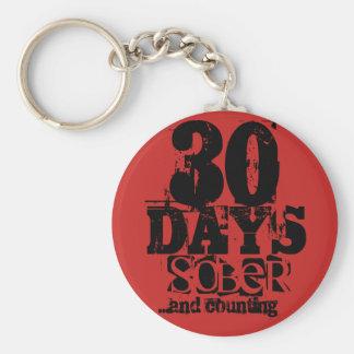 30 Days Sobriety Keychain