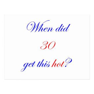 30  Hot Postcard