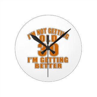 30 I Am Getting Better Wallclock