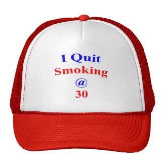 30 I Quit Smoking Hat