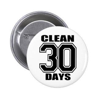 30 jours nettoient le noir badge avec épingle