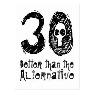 30 meilleur que le 30ème anniversaire drôle Q30 Carte Postale