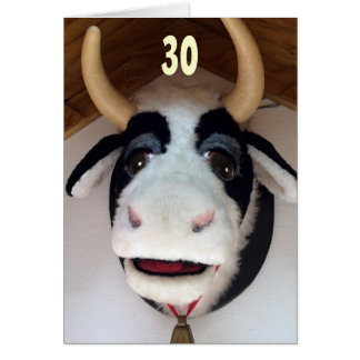 "30-NOW ""THAT"" IS SOMETHING TO ""MOO ABOUT"" BIRTHDAY CARD"