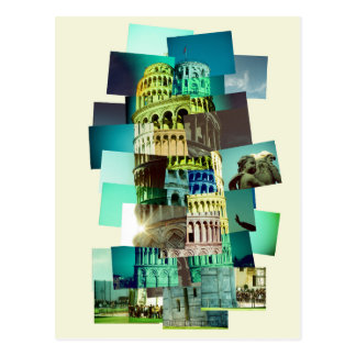 30 shots OF Pisa (yellow background) Postcard