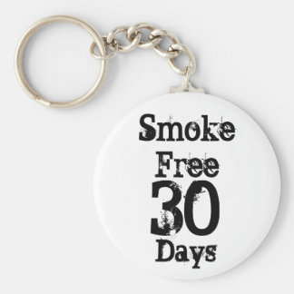 30 , Smoke Free , Days Keychain