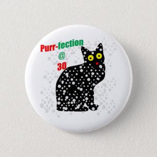 30 Snow Cat Purr-fection 2 Inch Round Button