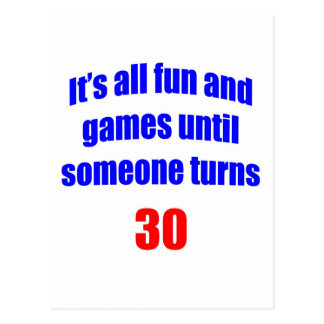30 Someone turns 30 Postcard