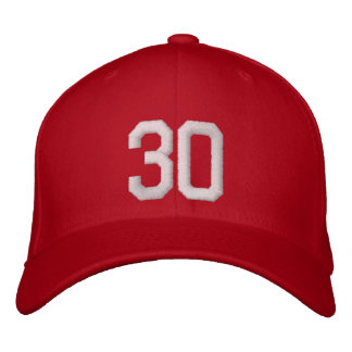 30 Thirty Embroidered Hat