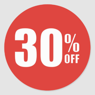 30% Thirty Percent OFF Discount Sale Sticker