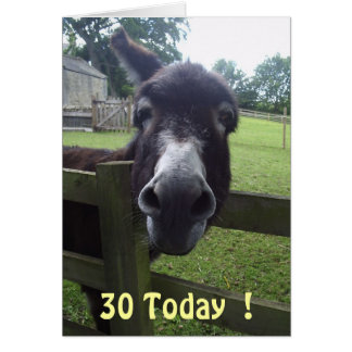30 Today  ! Card