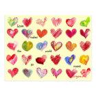 30 Valentine Hearts Postcard