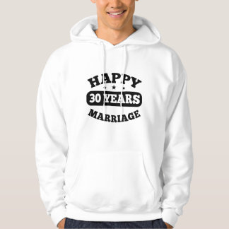 30 Year Happy Marriage Hoodie