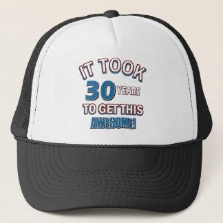 30 year old birthday designs trucker hat