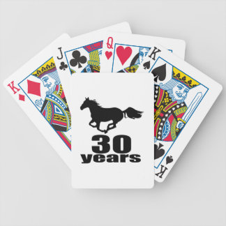 30 Years Birthday Designs Bicycle Playing Cards