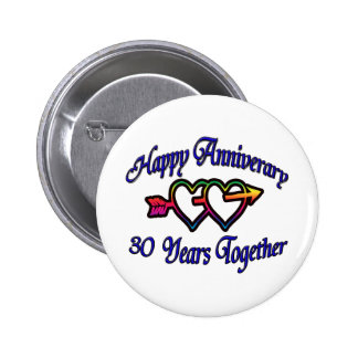 30 Years Together 2 Inch Round Button