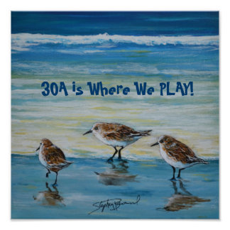 """30A is Where We Play"" Poster"