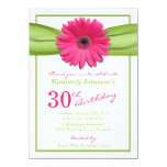 30ème anniversaire de Gerbera de ruban orange rose Bristols Personnalisés