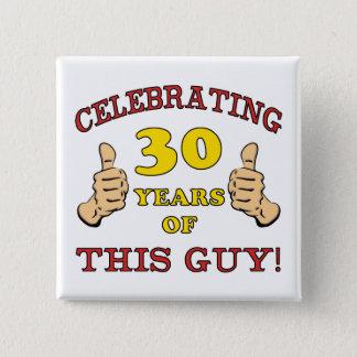 30ème Cadeau d'anniversaire pour lui Macaron Carré 5 Cm