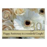 30èmes roses heureux d'anniversaire carte de vœux