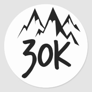 30K Run Classic Round Sticker