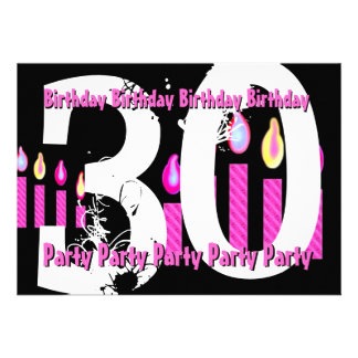 30th- 29th  Birthday Party Invitation Template