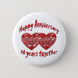 30th. Anniversary 2 Inch Round Button