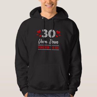 30th Anniversary Costume For Husband Wife. Hoodie