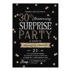 30th Anniversary Glitter Confetti Surprise Party Card