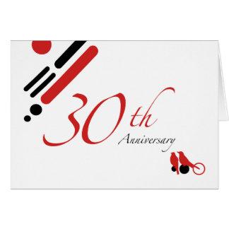 30th Anniversary (mod birds) Card